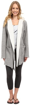 Hard Tail Slouchy Wrap Hoodie Jacket $132 thestylecure.com