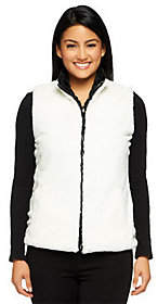 Joan Rivers Classics Collection Joan Rivers Reversible Faux Fur Vest withPockets