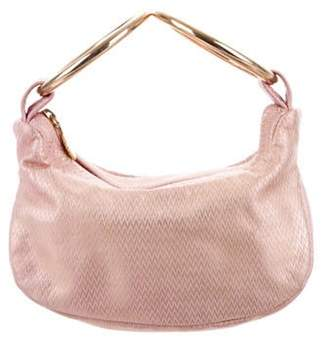 Lulu Guinness Textured Leather Handle Bag pink Textured Leather Handle Bag