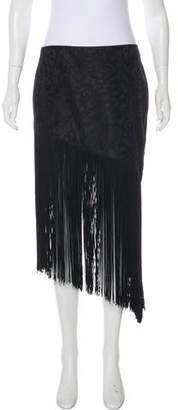 Rodarte Fringe-Trimmed Jacquard Skirt