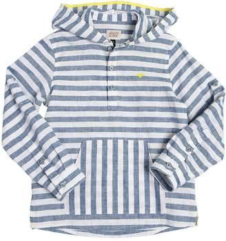 Armani Junior Hooded Striped Linen Shirt