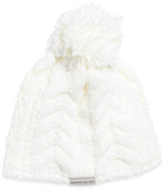 Little Girls Livy Knit Hat With Pom