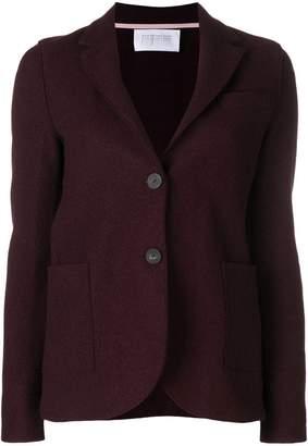 Harris Wharf London curved hem buttoned blazer