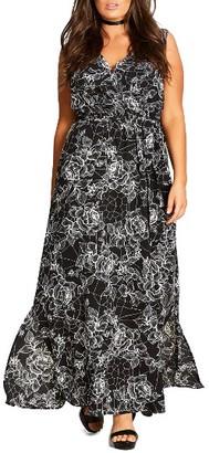 Plus Size Women's City Chic Rose Cage Maxi Dress $82.99 thestylecure.com