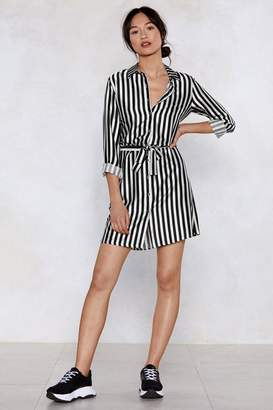 Nasty Gal Get It Stripe Now Shirt Dress