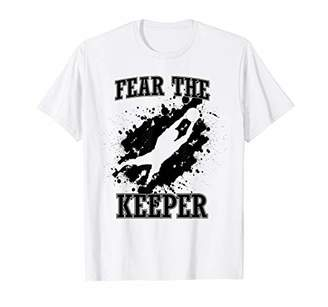 Soccer Ball Funny Quote Shirt for Goalie I Fear the Keerper