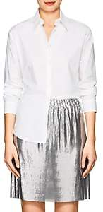 MM6 MAISON MARGIELA Women's Open-Back Cotton Poplin Blouse - White