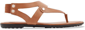 Tod's Leather Slingback Sandals - Tan