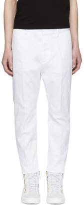 DSQUARED2 White Hockney Trousers
