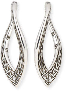 John Hardy Classic Chain Large Wave Hoop Earrings