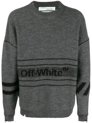 Off-White printed jumper