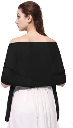 FASHION DRESS Sheer Soft Chiffon Bridal Shawl for Special Occasions (More Colors)