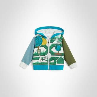 Burberry Childrens Hedge Maze Print Cotton Hooded Top