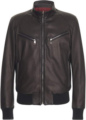 Dolce & Gabbana Reversible Leather Bomber Jacket