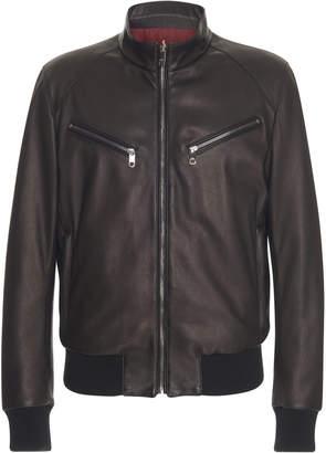 Dolce & Gabbana Reversible Leather Bomber Jacket