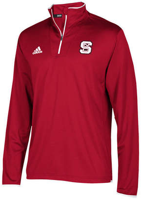 adidas Men's North Carolina State Wolfpack Team Iconic Quarter-Zip Pullover