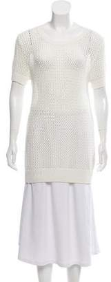 Allude Short Sleeve Knit Sweater