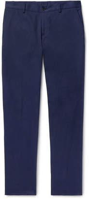 Etro Navy Slim-Fit Cotton-Blend Twill Chinos
