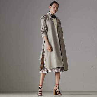 Burberry Side-slit Tropical Gabardine Trench Coat , Size: 14