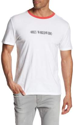 Obey New Times Worldwide Graphic T-Shirt