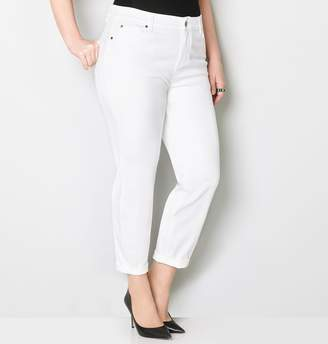 Avenue White Washed Rolled Ankle Jean