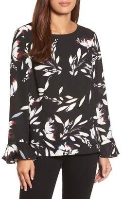 Women's Chaus Floral Vision Bell Sleeve Blouse $69 thestylecure.com