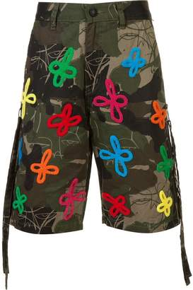 Haculla embroidered and printed bermuda shorts