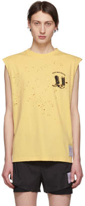Satisfy Yellow Boots Moth Eaten Muscle T-Shirt