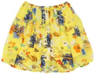 Preen Mini Lisa Floral Printed Gathered Crepe Skirt