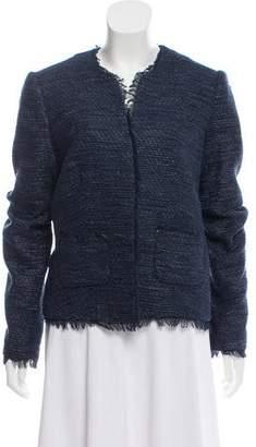 L'Agence Silk-Blend Long Sleeve Blazer
