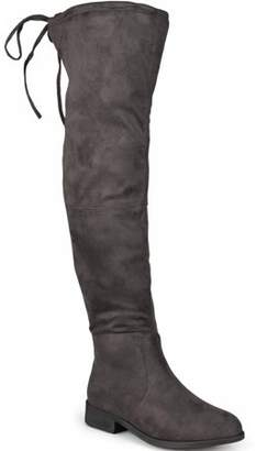 Brinley Co. Women's Wide Calf Faux Suede Over-the-knee Boots