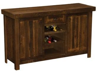 Fireside Lodge Barnwood Sideboard with Wine Rack Shelves Fireside Lodge