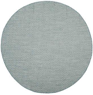 "Safavieh Courtyard Light Blue and Light Gray 6'7"" x 6'7"" Sisal Weave Round Area Rug"