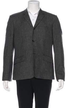 Balenciaga Plaid Wool Blazer