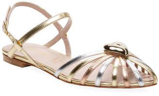 Aperlaï Leather Strap Sandal