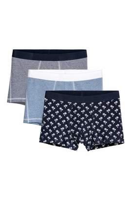H&M 3-pack Boxer Shorts - Dark blue/patterned - Men