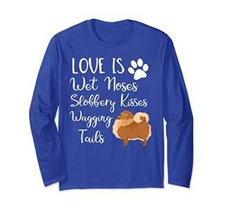 I love My Pomeranian Dog Saying Long Sleeve Shirt Dog Lovers