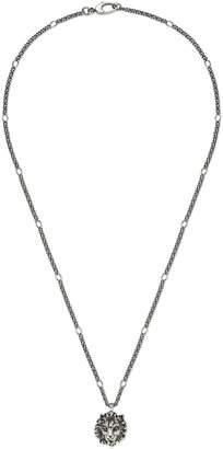 Necklace with lion head pendant $295 thestylecure.com