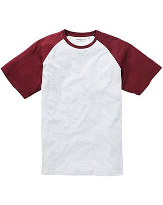 Jacamo Wine/Ecru Raglan T-Shirt Long