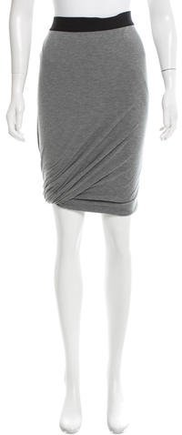 Alexander Wang T by Alexander Wang Knit Knee-Length Skirt