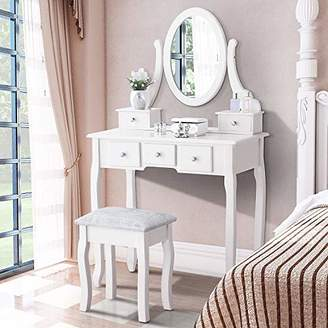 Mecor Vanity Table Oval Mirror