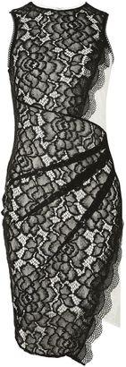 Topshop Asymmetrical Contrast Wrap Feature Dress