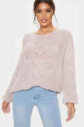 PrettyLittleThing Womens Knitted Jumper - Pink