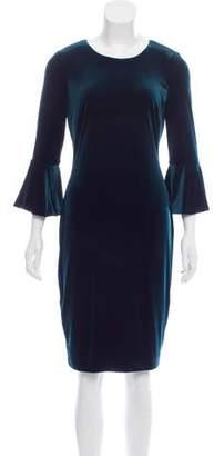Calvin Klein Velvet Bell Sleeve Dress w/ Tags