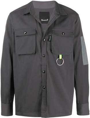 Numero00 double pocket keyring detail shirt