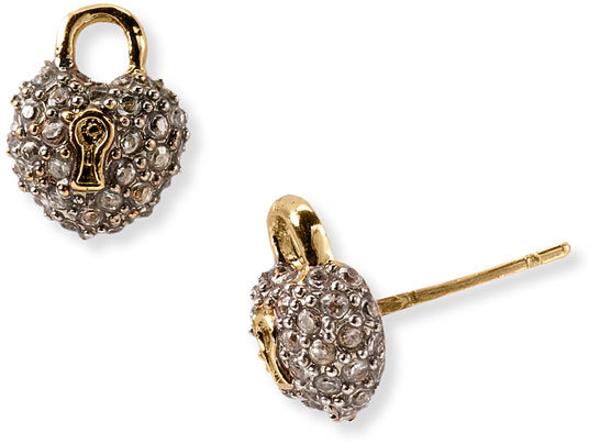 Juicy Couture Heart Padlock Earrings