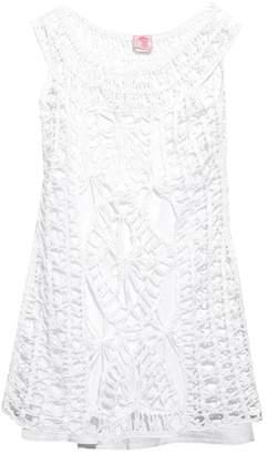 Anna Kosturova Scoop-neck crochet dress