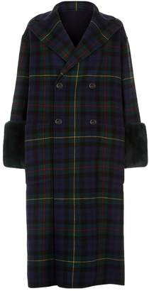 Max Mara Fur Cuff Wool Coat