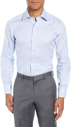 David Donahue Slim Fit Micro Pattern Dress Shirt