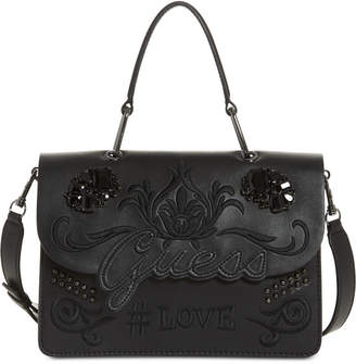 GUESS In Love Logo Top Handle Shoulder Bag